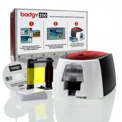 Kit complet pour l'impression de badges PVC Evolis Badgy