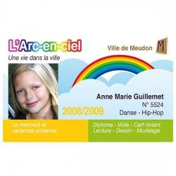 Carte PVC scolaire couleur imprimée par la Badgy