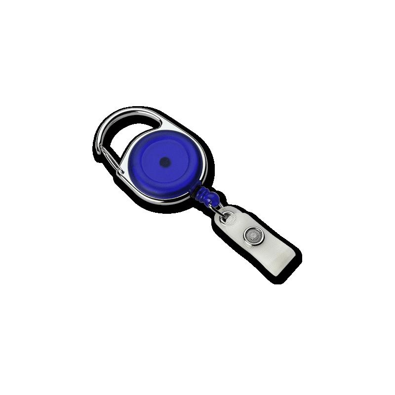 Zip enrouleur bleu mousqueton