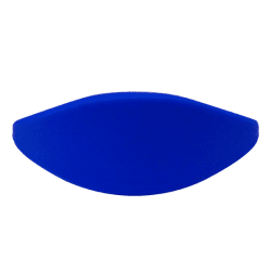 Pulsera silicona azul 61mm