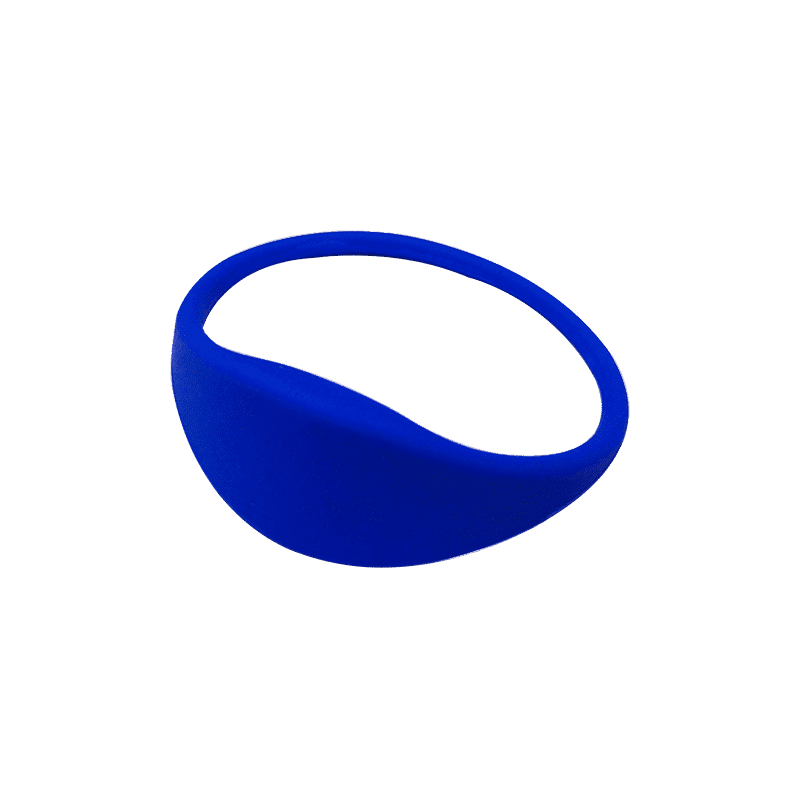 Pulsera RFID 1K silicona azul 74mm