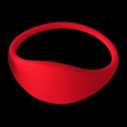 Pulsera RFID 1K silicona roja 61mm
