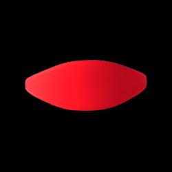 Pulsera silicona roja 61mm