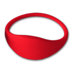 Pulsera RFID 1K silicona roja 74mm