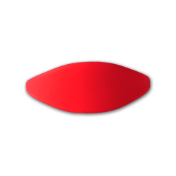 Pulsera silicona roja 74mm