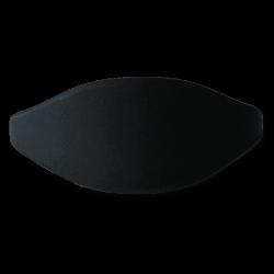 Pulsera silicona negra 61mm