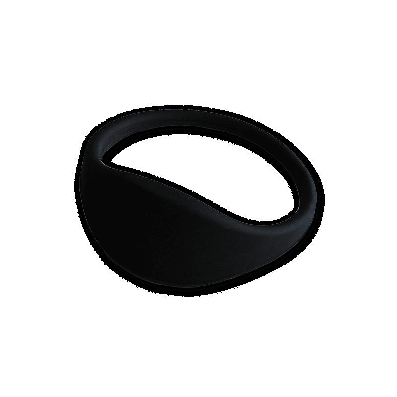 Pulsera RFID 1K silicona negra 67mm