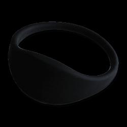 Pulsera RFID 1K silicona negra 74mm